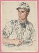 Carte Signée - W. WILLRICH - Feldweber BALTINER - Gebirgs Jägerregiment - Guerre 39/45 - War 1939-45