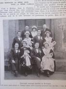 1927 5 Mariages à MOELAN Bretagne - Vieux Papiers