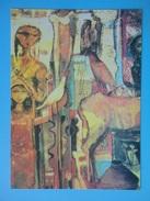 Egitto - Omar El Nagdi - Back From The Field - Dipinto - Cartolina Promo - Pittura & Quadri