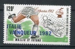"""4961   WALLIS ET FUTUNA   PA  119**  120f  Noir, Brun-rouge Et Vert  """"Vainqueur D'Espana 82"""" Coupe Du Monde De Foot  SUP - Nuovi"""