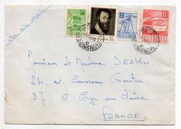 Roumanie--1972--Lettre Pour St Cyr/Loire-37--Composition De Timbres - Cartas