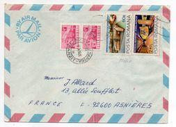 Roumanie--1982--Lettre De CLUJ-NAPOCA Pour ASNIERES-92 (France)--Composition De Timbres (métro)--cachets - Cartas