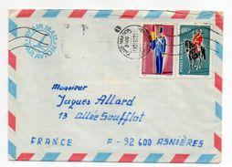 Roumanie--1981--Lettre De CLUJ-NAPOCA  Pour ASNIERES-92 (France)--Composition De Timbres (soldats)--cachets - 1948-.... Républiques