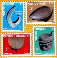 Polynésie **LUXE 1984 Taxe 4 à 7 Série 4v - Timbres-taxe