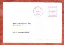 Brief, Postentgelt Bar Bezahlt, Postfreistempel Bregenz, Postleitzahl Im Postcode 2000 (41902) - Affrancature Meccaniche Rosse (EMA)