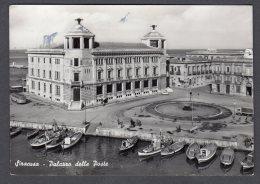 1960 SIRACUSA Palazzo Delle Poste FG V SEE 2 SCANS Animata Camion Autobus Carretto Barche - Siracusa