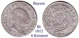 DL-1812, 6 Kreutzer, Bayern - Piccole Monete & Altre Suddivisioni