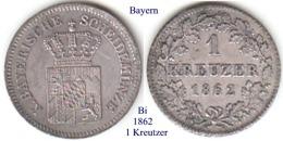 DL-1862, 1 Kreutzer, Bayern - Piccole Monete & Altre Suddivisioni