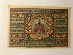 Allemagne Notgeld Kreuzburg 50 Pfennig - [ 3] 1918-1933 : Weimar Republic