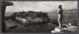 1955 NAPOLI Castel Dell'Ovo F.to 9x21cm FG V SEE 2 SCANS - Napoli
