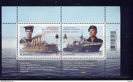 CANADA 2010, SS # 2384,  100 YEAR OF CANADIAN NAVY  .  GOOD CONDITION - Blocs-feuillets