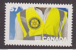 Canada 2010,  # 2394i, ROTARY CLUB  SINGLE MNH   DIE CUT - Booklets
