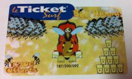 BEE HAPPY FRANCE TELECOM TICKET SURF CARTE INTERNET DATE EXP 30/04/2007 200 EX CARTE A CODE PHONECARD NO TELECARTE - Frankreich