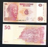 CONGO DR (KINSHASA)  -  30/06/2013  50f  Fishing Village  UNC - Democratic Republic Of The Congo & Zaire
