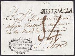 S/F. CIRCA  1810. GUATEMALA A SAN JOSÉ. - Guatemala