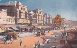 Jeypore India, Johari Bazaar Market Scene, Tucks Oilette Series #7023, C1900s/10s Vintage Postcard - India