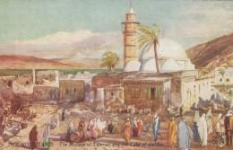 Tucks Oilette Series III #7310, The Holy Land Mosque Of Tiberias, Sea Of Galilee C1900s/10s Vintage Postcard - Israel