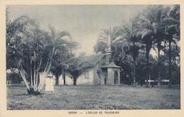 Gabon Church Of Talagouga, C1910s/20s Vintage Postcard - Gabon