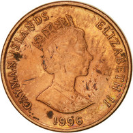 Îles Caïmans, Elizabeth II, Cent, 1996, British Royal Mint, TTB, Copper Plated - Iles Caïmans