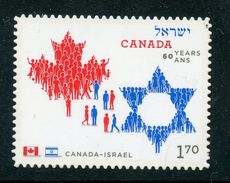 CANADA 2010,   # 2379i  JOINT ISSUE 60 YEARS OF FRIENSHIP CANADA & ISRAEL, $1.70 RATE MNH    DIE CUT FROM QUARTELY PACK - Sellos (solo)