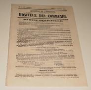 Le Moniteur Des Communes Du 2 Janvier 1862.(l'Empereur-Ministre Du Culte) - Journaux - Quotidiens