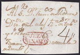 S/F. CIRCA 1810. QUEZALTENANGO A GUATEMALA. MUY RARO FRONTAL. - Guatemala