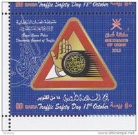 Oman 2013  NEW ISSUE OMAN  TRAFIC DAY SAFTY   1 V SET - Oman