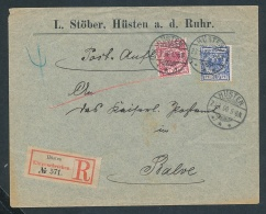 R.Brief Hüsten -netter Beleg....   ( Ze5993 )-siehe Scan !! - Covers & Documents