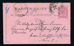 Österreich Alte Ganzsache-gefaltet  ... Netter Beleg  ( T5933  )-siehe Scan !! - Interi Postali