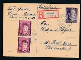 Krakau R.- Karte    ... Netter Beleg  ( T5929  )-siehe Scan !! - Besetzungen 1938-45