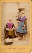 Thematiques Photo Ancienne Marchandes De Sel De Guérande. Nom Du Photographe Au Dos - Métiers