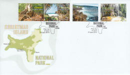 Christmas Island 2014 FDC Set Of 4 Scenic Views Of Christmas Island National Park - Géographie