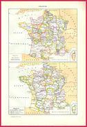 France Anciennes Provinces Conscription Militaire (recto) Art Français (verso) Larousse 1907 - Old Paper