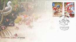 Christmas Island 2014 FDC Set Of 2 Crabs, Santa - Christmas - Noël