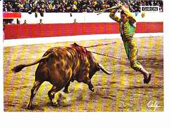 Torero GIRON, Une Belle Paire De Banderilles, Matador, Corrida, Photo YAN, Ed. Celyl 1990 Environ - Corrida