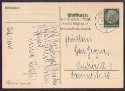 JZ112   Deutsche Reich - WW II Mit Werbestempel Reichsluftschutzbund Meißen 1938 - Cartas