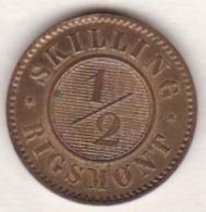 Denmark . 1/2 Skilling Rigsmont 1857 , Frederik VII , KM# 767 - Dinamarca
