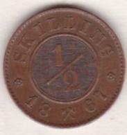 Norway,  1/2 Skilling 1867, Carl XV ,  KM# 329 - Norvège