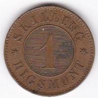 Denmark . 1 Skilling Rigsmont 1869 , Christian IX , KM# 774 - Danemark