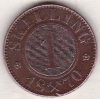 Norway,  1 Skilling 1870, Carl XV ,  KM# 335 - Norvège