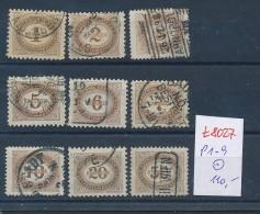 Österreich -Porto  1-9 O   ( T8027  ) Siehe Bild ! - Impuestos