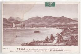 TOULON Vue De La Rade Gravure D'époque Vin Blanc Cassis BODIN Cassis Sur Mer (2) - Toulon