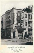 WESTENDE PLAGE : Pension Marina - Cachet De La Poste 1939 - Westende
