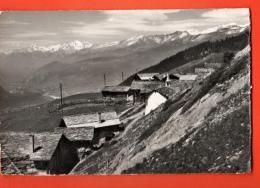 MIB-28  Brentschen Ob Erschmatt Leuk, Grand Muveran, Wildhorn. Pli Angle Inf. Gauche. Cachet 1965, Timbre Manque - VS Valais