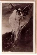 Satan-Lucifer-real-photo-postcard-RPPC-woman-man-nude-art-1920 - Photographie