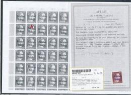 Meissen  Nr. 19   ** Mit Attest Kopie Mit Bogen Feld Bestimmung   (ze6737  )  Siehe Bild - Zone Soviétique