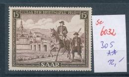 Saar Nr. 305 **    (se 6032  )  Siehe Bild - 1947-56 Allierte Besetzung