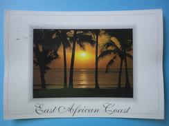 East African Coast - Tramonto - Controluce - Cartoline
