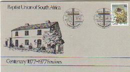RSA 1977 Enveloppe Baptist Church Mint # 1420 - Christianity