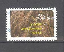 France Autoadhésif Oblitéré (une Moisson De Céréales : Blé Dur) (cachet Rond) - France